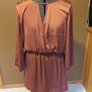 NWT Forever 21 Satin Surplice Mini Dress